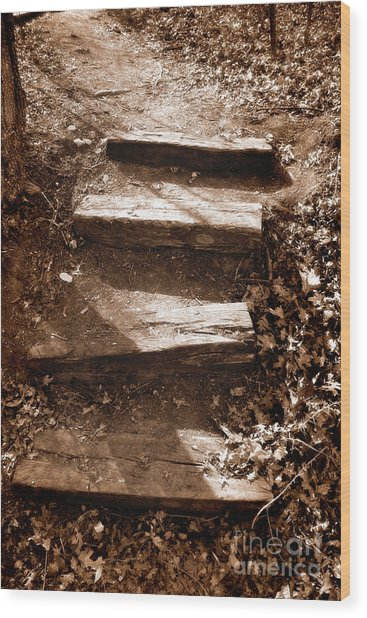 Untitled Wood Print by Jeannie Burleson