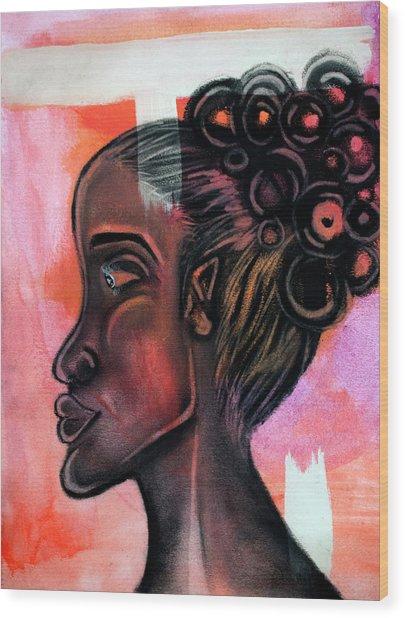 Untitled Lady II Wood Print