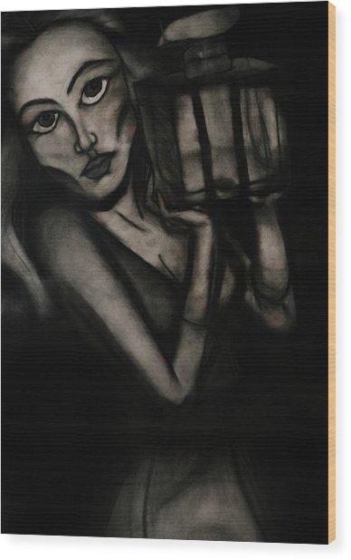 Untitled Lady IIi Wood Print