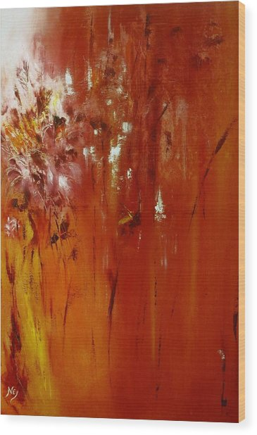 Untitled Red Wood Print by Larry Ney  II