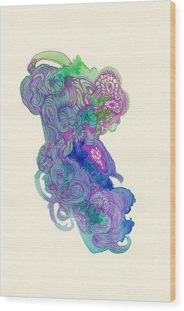 Untitled - #ss14dw037 Wood Print by Satomi Sugimoto