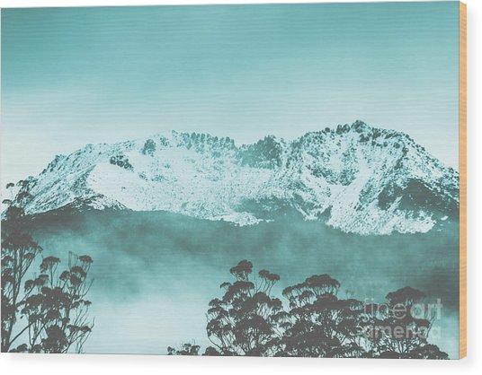 Untouched Winter Peaks Wood Print
