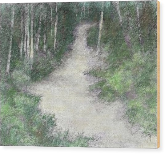 Up Into The Woods Colorized Wood Print by David King