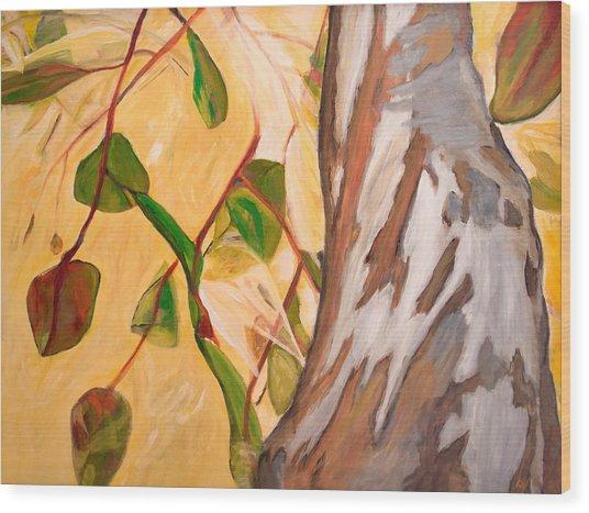 Up Wood Print