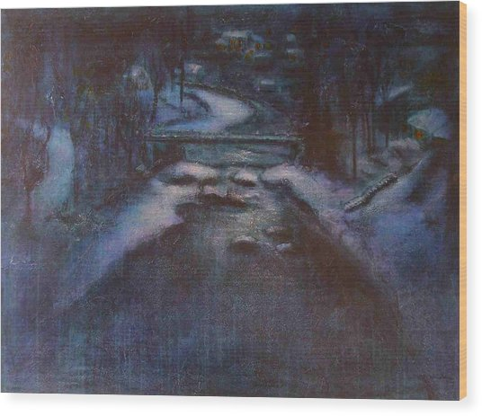 Up River Wood Print