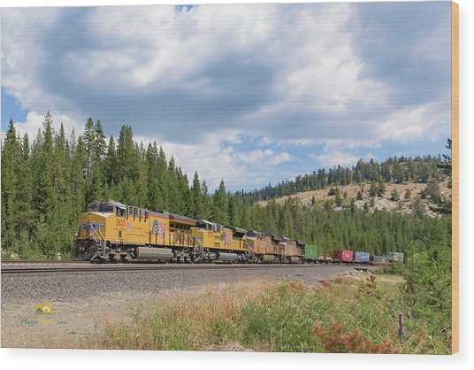 Wood Print featuring the photograph Up2650 Westbound From Donner Pass by Jim Thompson