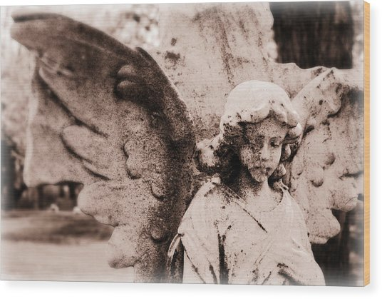Upon Angel's Wings Wood Print