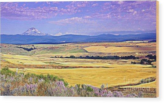 Upon Golden Fields Wood Print