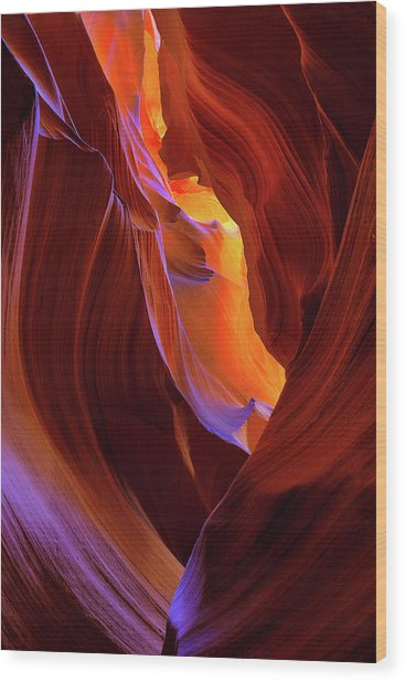 Upper Antelope Canyon II Wood Print