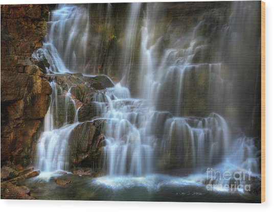 Upper Beartooth Falls Wood Print