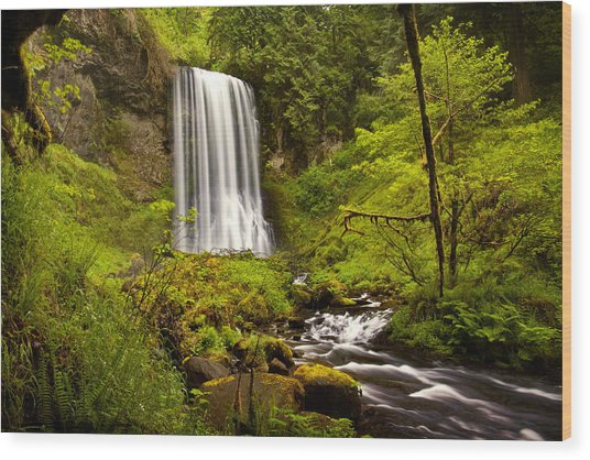 Upper Bridal Veil Falls Wood Print