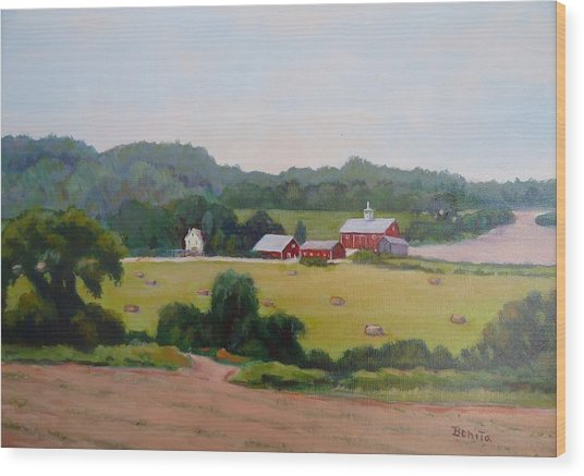Upper Bucks County Farm Wood Print