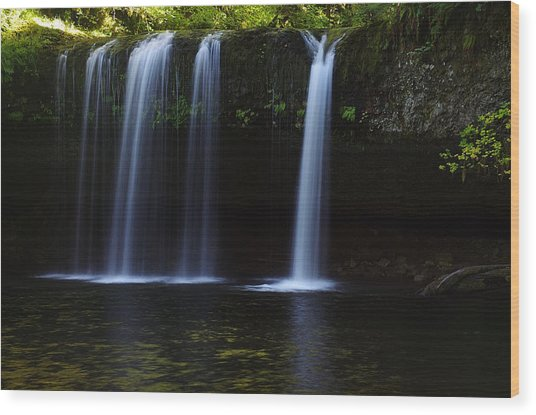 Upper Butte Creek Falls - Front Wood Print