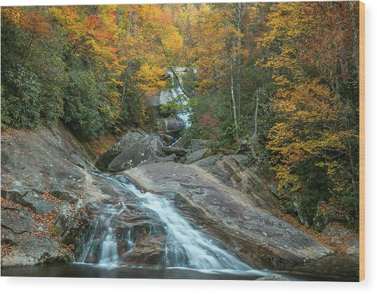 Upper Creek Autumn Paradise Wood Print