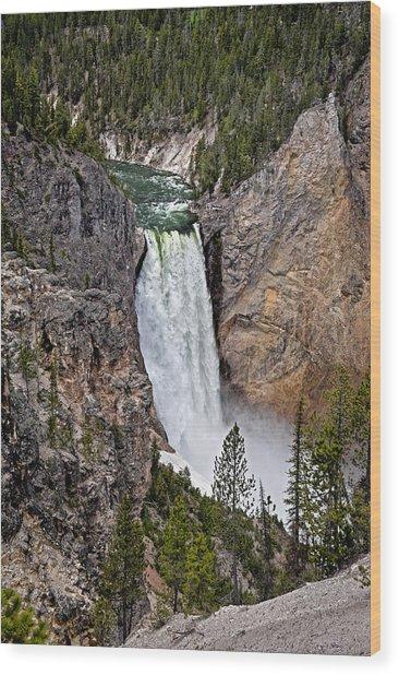 Wood Print featuring the photograph Upper Falls by John Gilbert