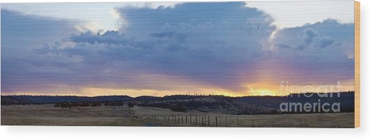 Upper Park Sunrise Wood Print by Richard Verkuyl