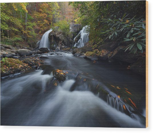 Upper Turtletown Falls Autumn Wood Print