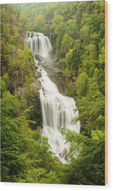 Upper Whitewater Falls Wood Print