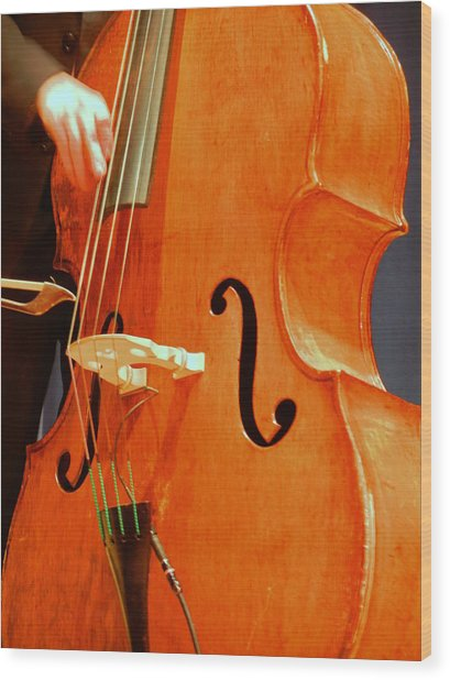 Upright Bass 3 Wood Print