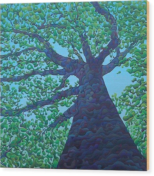 Upward Treejectory Wood Print