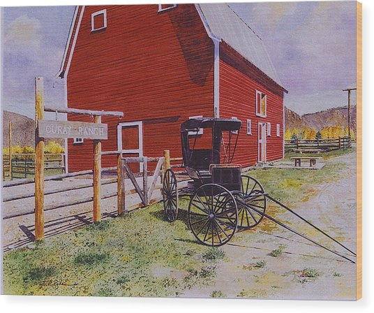 Ouray Ranch Wood Print