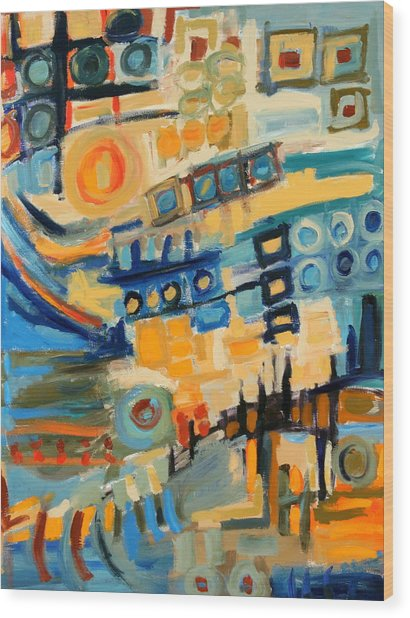 Urban Abstract Wood Print by Maggis Art