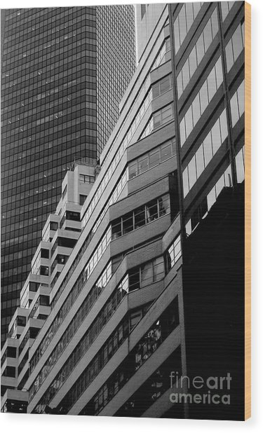 Urban Cliff Dwellings Wood Print