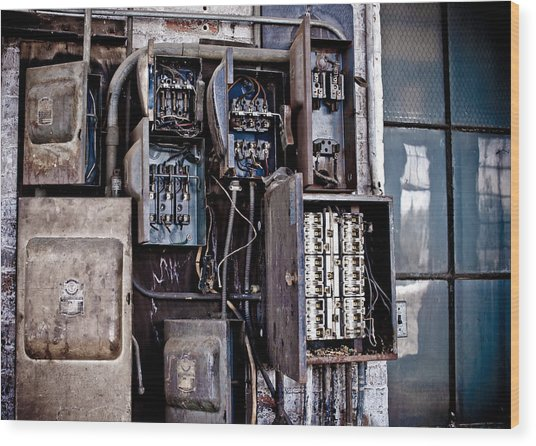 Urban Decay  Fuse Box Wood Print