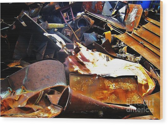 Urban Deconstruction Wood Print by Reb Frost