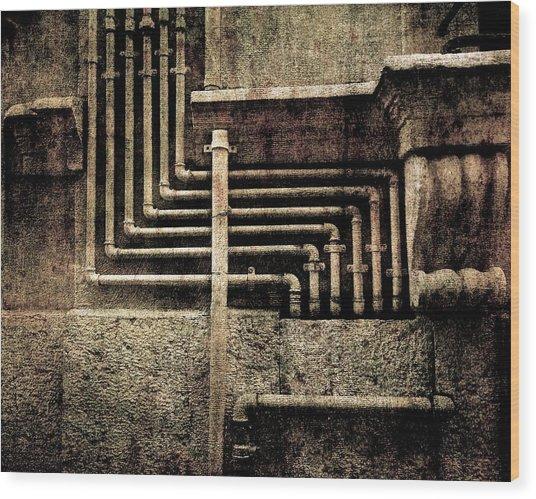 Urban Geometries Wood Print