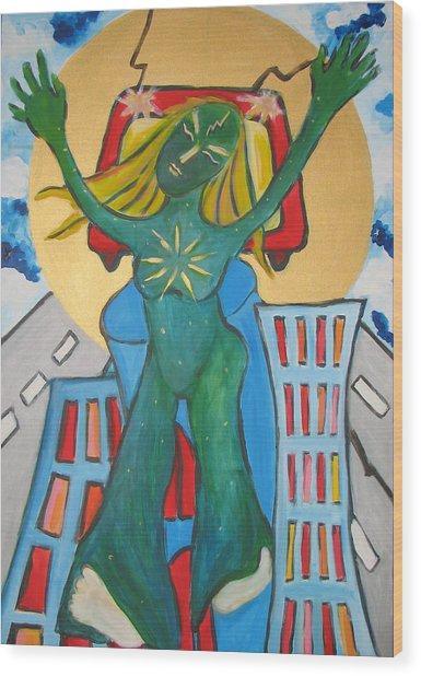 Urban Legends Ny Wood Print by Krisztina Asztalos