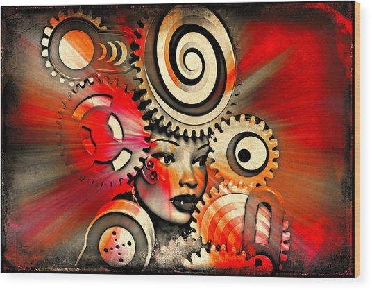 Urban Medusa Wood Print