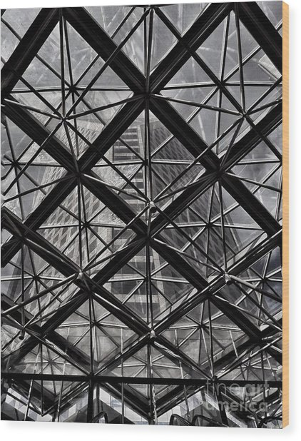Urban Patterns - Sao Paulo  Wood Print