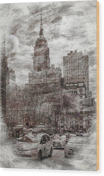 Urban Rush Wood Print