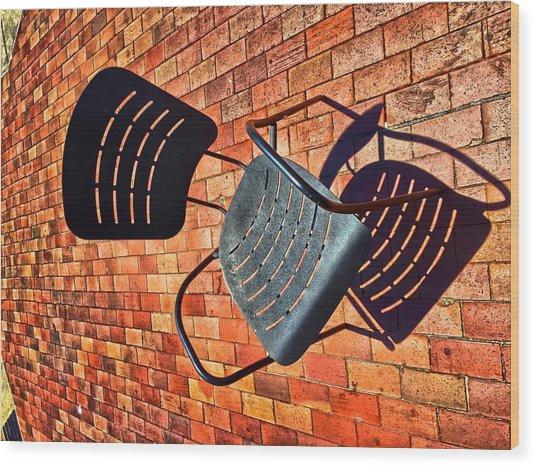 Urban Seating  Wood Print