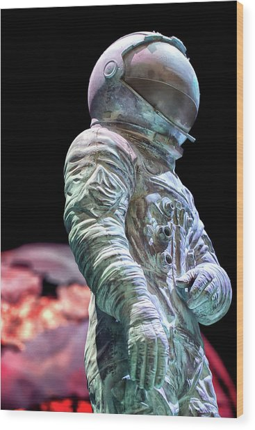 Urban Spaceman Wood Print