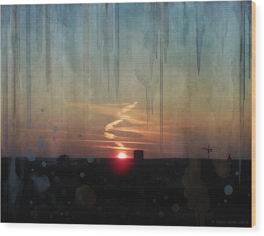 Urban Sunrise Wood Print