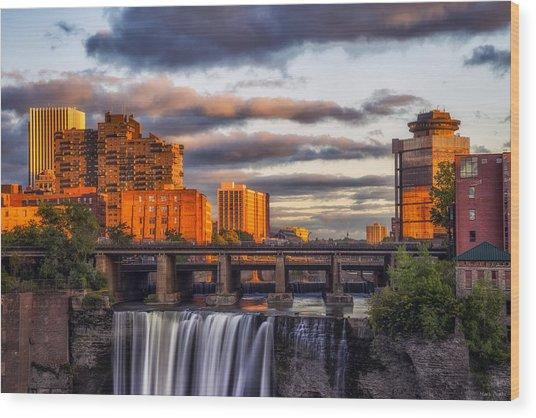Urban Waterfall Wood Print