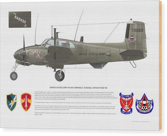 U.s. Army Ru-8d 138th Wood Print
