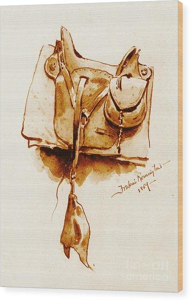 Us Cavalry Saddle 1869 Wood Print