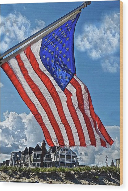 Us Flag,ocean Grove,nj Flag Wood Print