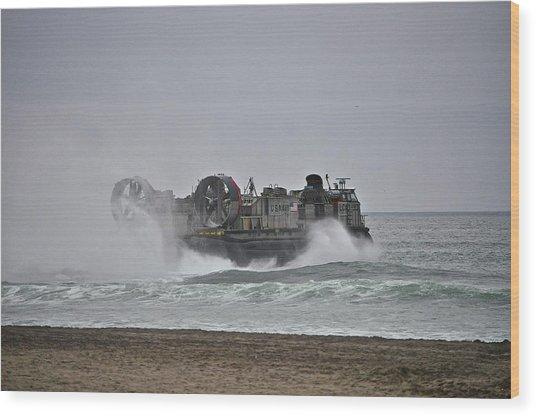 Us Navy Hovercraft Wood Print