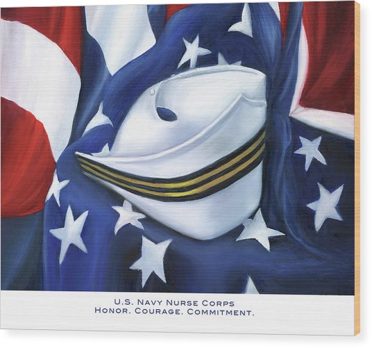 U.s. Navy Nurse Corps Wood Print