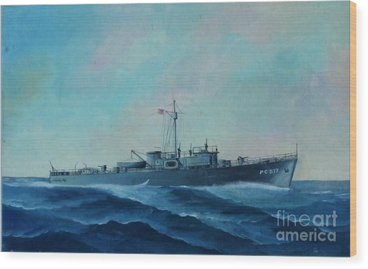 Us Navy Ship Pc577 Wood Print