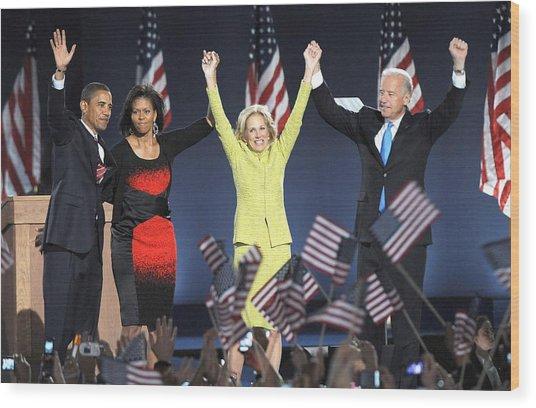 U.s. President Elect Senator Barack Wood Print