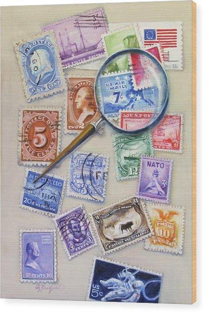U.s. Stamp Collection Wood Print