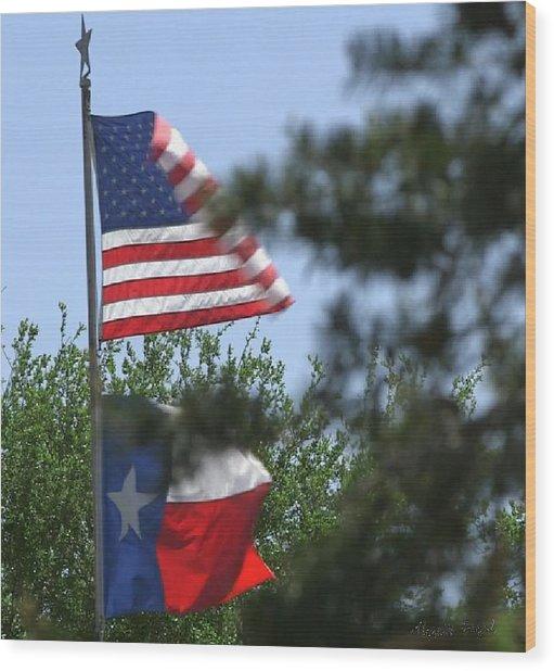 Usa Blesses Texas Wood Print