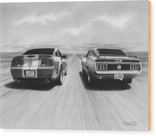 Usa Muscle II Wood Print