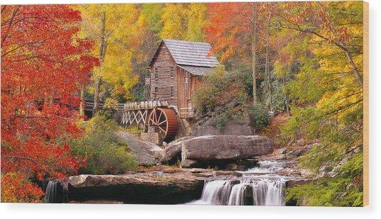 Usa, West Virginia, Glade Creek Grist Wood Print