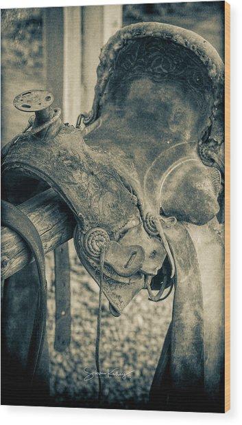 Used Saddle Wood Print